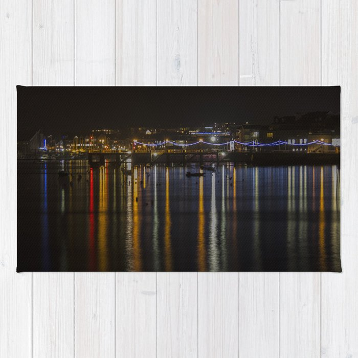Prince of Wales Pier at Night Rug
