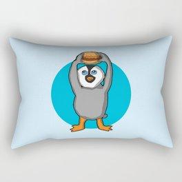Baby penguin Holding a Hamburger Rectangular Pillow