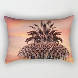 Pineapple Fountain Pink Rectangular Pillow