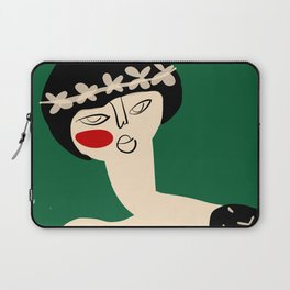 Girl with flower crown Laptop Sleeve