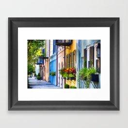 Rainbow Row I Framed Art Print