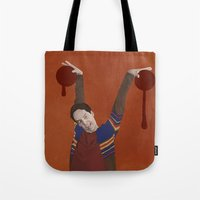 vampire diaries Tote Bags featuring Vampire by mycolour