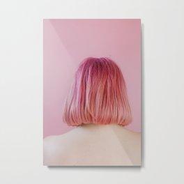 vanessa (pink hair) Metal Print