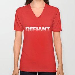 Defiant Unisex V-Neck
