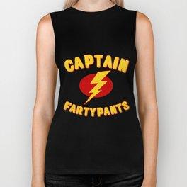 Captain Fartypants Funny Fart Biker Tank