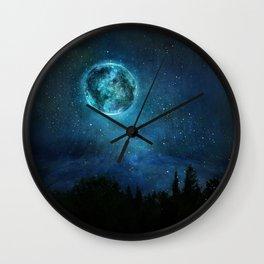 Planetary Soul Haven Night Wall Clock
