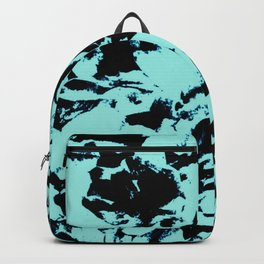 Turquoise Black Abstract Military Camouflage Backpack