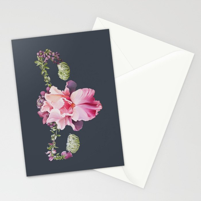 Floral Uterus Stationery Cards