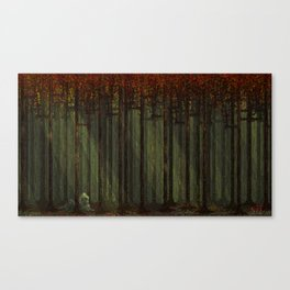 Autumn Forest - Pixel Art Canvas Print