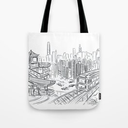 Hong Kong Peak Sketching Tote Bag