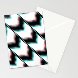 Black and white modern pattern Stationery Cards