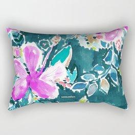 HIBISCUS POP FLORAL Rectangular Pillow