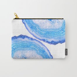 Blue Agate Slices Carry-All Pouch