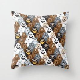 Bears Bears Bears Throw Pillow