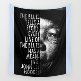 The Blues Tells A Story Wall Tapestry