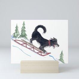 Dog Sledding 1 Mini Art Print