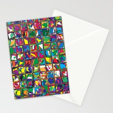 Stacks Geometric Art Print. Stationery Cards