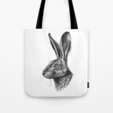 Hare profile G138 Tote Bag