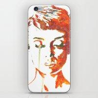hepburn iPhone & iPod Skins featuring Audrey Hepburn by Geryes