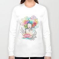 lotus Long Sleeve T-shirts featuring Lotus. by Cloe