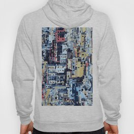 red yellow blue pink drawing and painting abstract background Hoody