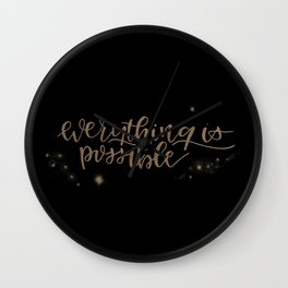 Everything is possible Wall Clock