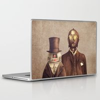 robots Laptop & iPad Skins featuring Victorian Robots  by Terry Fan