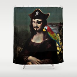 Mona Lisa Pirate Captain Shower Curtain