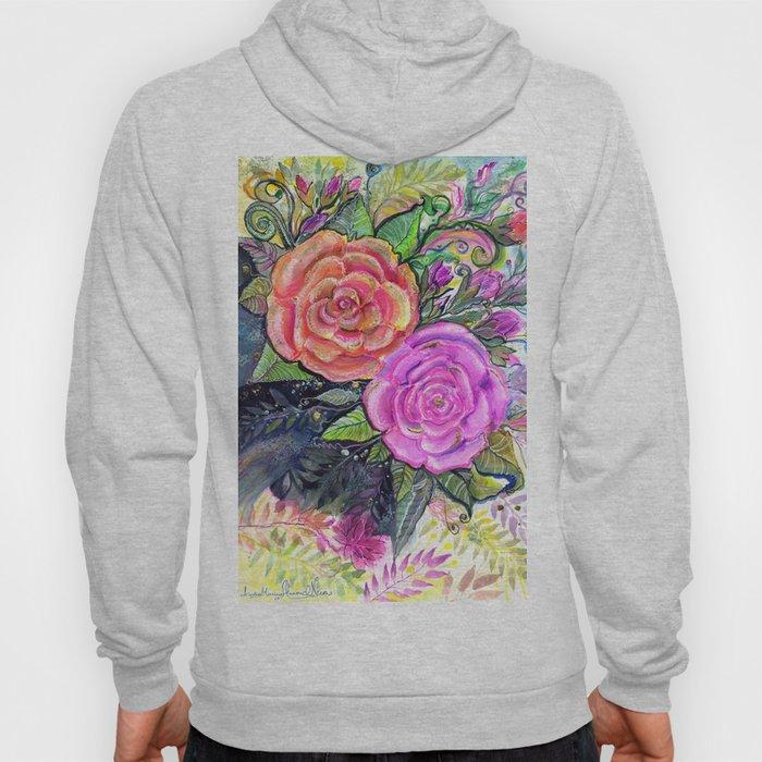 painting roses makes me EUPHORIC! Hoody