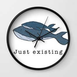 Whales just existing Wall Clock