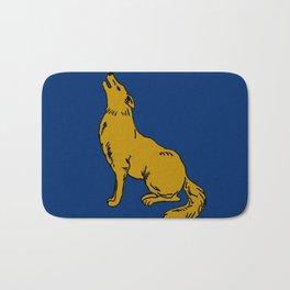 The Golden Coyote Bath Mat