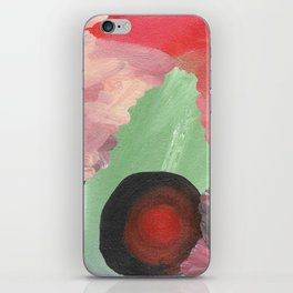Birth - beautiful velocity, a green and red abstract iPhone Skin