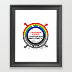 I shot a rainbow Framed Art Print