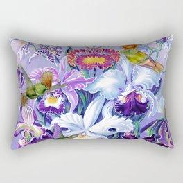 Orchids & Hummingbirds Rectangular Pillow