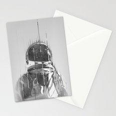 The Space Beyond B&W Astronaut Stationery Cards