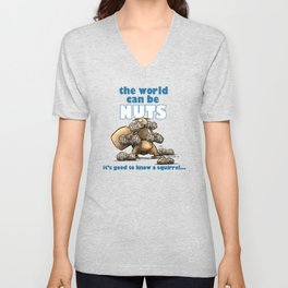 the world can be nuts Unisex V-Neck