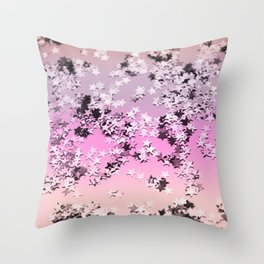 Unicorn Girls Glitter Stars #8 #shiny #decor #art #society6 Throw Pillow
