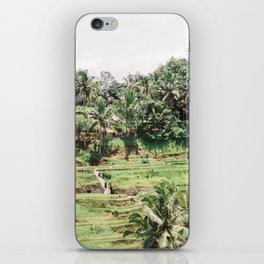 Tegalalang Rice fields near Ubud Bali, Indonesia | Travel film photography wall art iPhone Skin