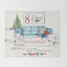 EIGHTH DAY OF CHRISTMAS WEIMS Throw Blanket