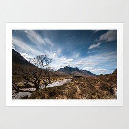 Mountain valley Art Print