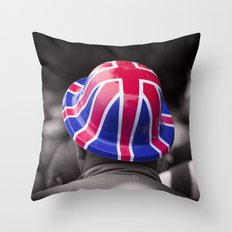 A Patriotic Boy Throw Pillow