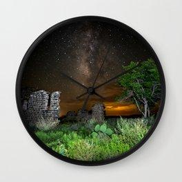 Milky Way over Texas Wall Clock