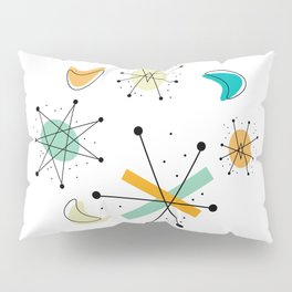 Vintage Mid Century Modern Pattern Shapes Pillow Sham