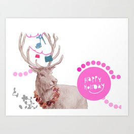 Happy Holiday Art Print