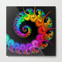 the perky spiral -1- Metal Print