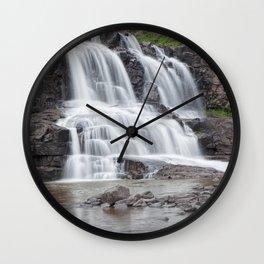Lower Gooseberry Falls in Minnesota Wall Clock
