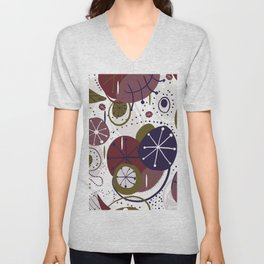 Active Wear Abstract Pattern Unisex V-Neck
