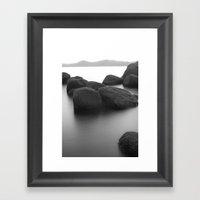 Bonsai B&W Framed Art Print