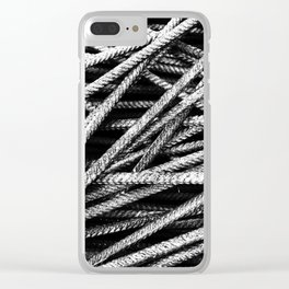 Rebar And Spring - Industrial Abstract Clear iPhone Case