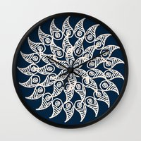 moulin rouge Wall Clocks featuring Rouge by Sproot